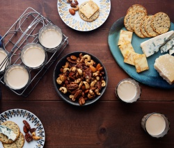Chai Spiced Nuts And Cheese